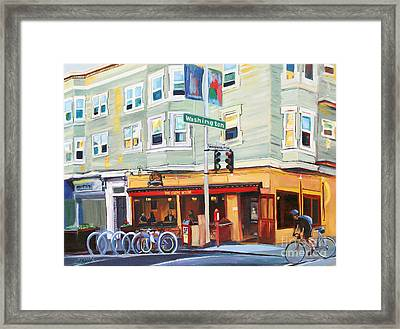 City Bike At Polk And Washington Framed Print by Colleen Proppe