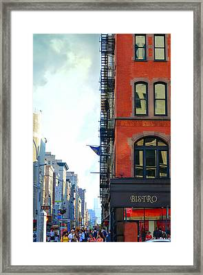 City Bistro Framed Print