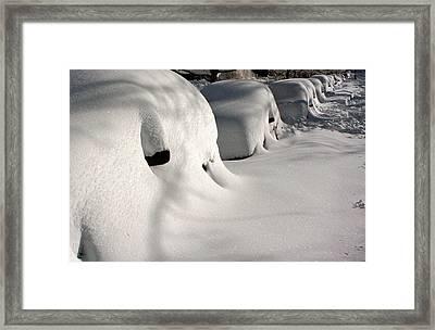 City Blizzard Framed Print
