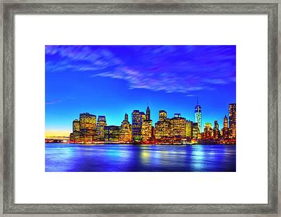 City Blue Framed Print by Midori Chan