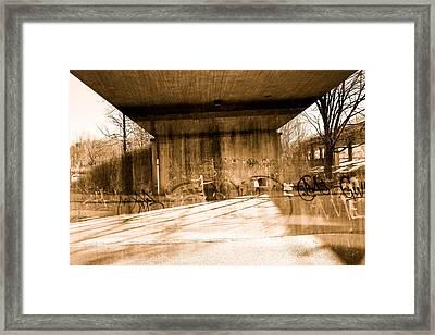 City Bridge Framed Print