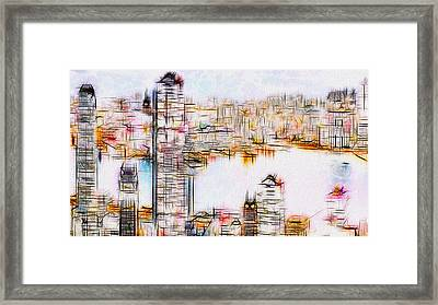 City By The Bay Framed Print by Jack Zulli