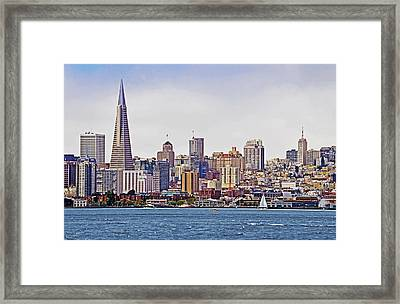 City By The Bay Framed Print by Sindi June Short