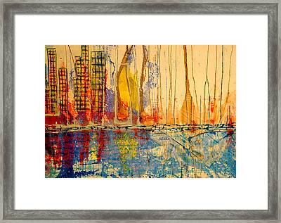 City By The Sea Framed Print