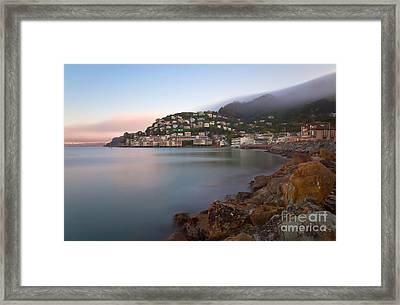 City By The Sea Framed Print by Jonathan Nguyen