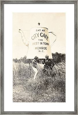 City Cafe - Best In Town - Monroe North Carolina Framed Print