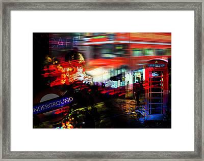 London City Cafe Culture Framed Print
