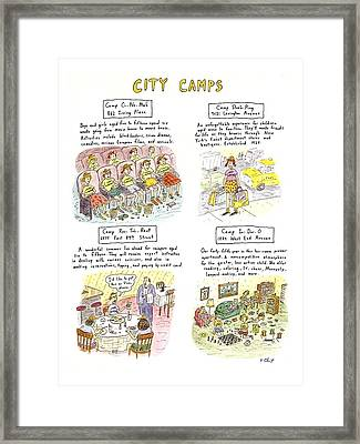 City Camps Framed Print
