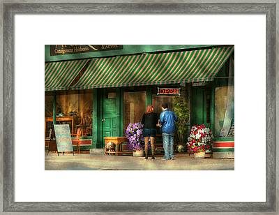 City - Canandaigua Ny - Buyers Delight Framed Print by Mike Savad