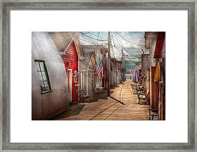 City - Canandaigua Ny - Shanty Town  Framed Print by Mike Savad