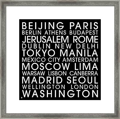 City Capitals Framed Print by Gary Grayson