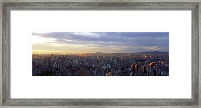 City Center, Buildings, City Scene, Sao Framed Print