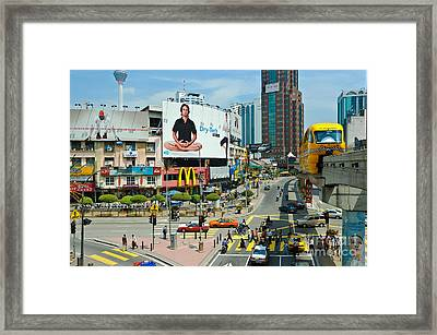 City Centre Scene - Kuala Lumpur - Malaysia Framed Print by David Hill