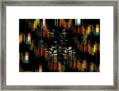 City Chaos #1 Framed Print by Renee Anderson