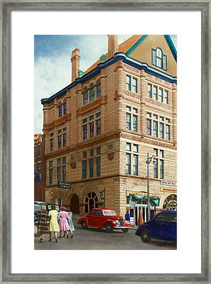 City - Chattanooga Tn - 1943 - The Masonic Temple Framed Print by Mike Savad