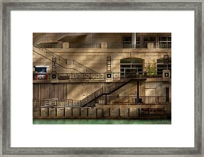 City - Chicago Il - Ups And Downs Framed Print by Mike Savad