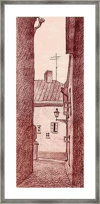 City Corridor A Framed Print