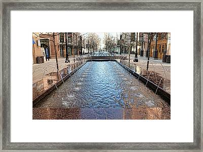 Framed Print featuring the photograph City Creek Fountain - 1 by Ely Arsha
