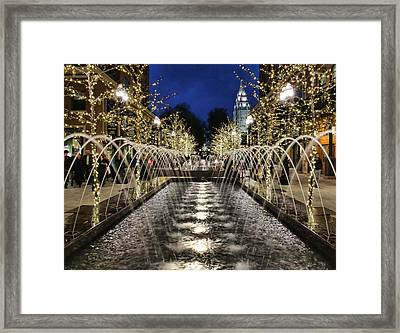 Framed Print featuring the photograph City Creek Fountain - 2 by Ely Arsha