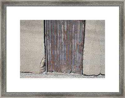 City Door Framed Print