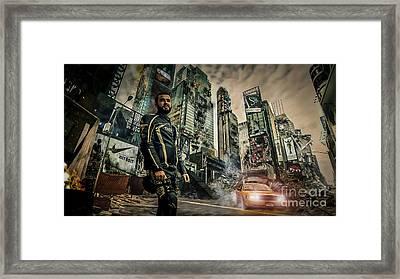 City Framed Print by Eugenio Moya