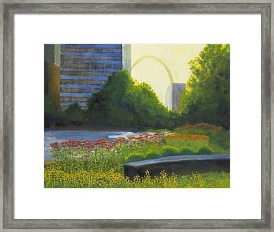 City Garden St. Louis Framed Print by Garry McMichael