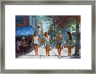 City Girls Framed Print