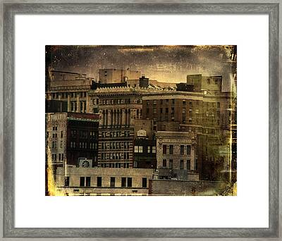 The City Buildings In Pittsburgh  Framed Print by Gothicrow Images