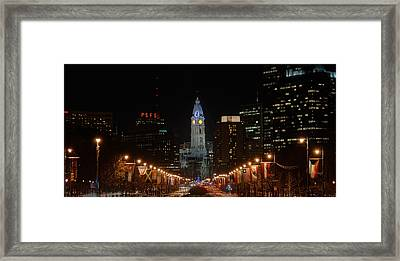 City Hall At Night Framed Print