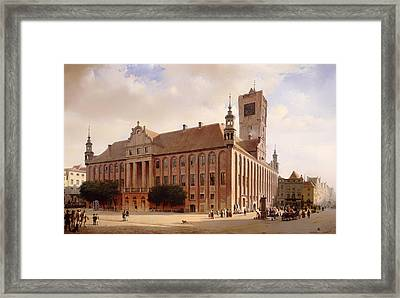 City Hall At Thorn Framed Print by Mountain Dreams