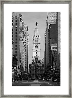 City Hall B/w Framed Print