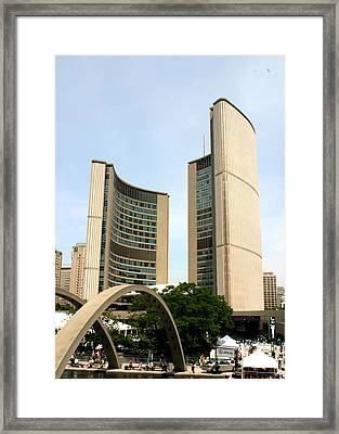 City Hall Canada Day Framed Print