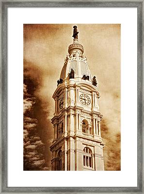 Tower Of City Hall - Downtown Philadelphia - One Penn Square Framed Print