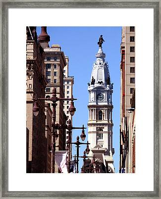 Framed Print featuring the photograph Philadelphia City Hall From Broad St by Christopher Woods