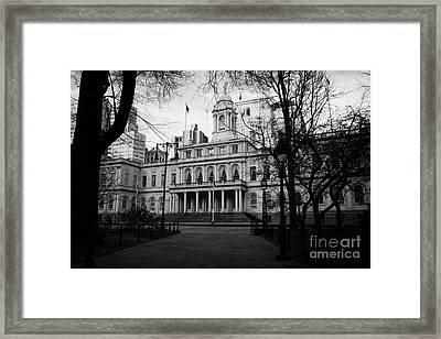 City Hall In City Hall Park New York City Framed Print