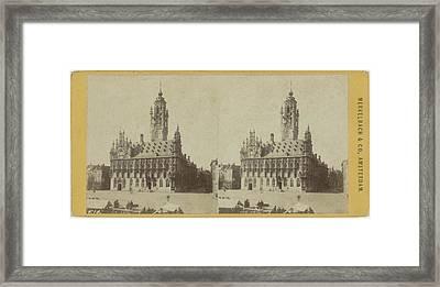 City Hall In Middelburg Framed Print