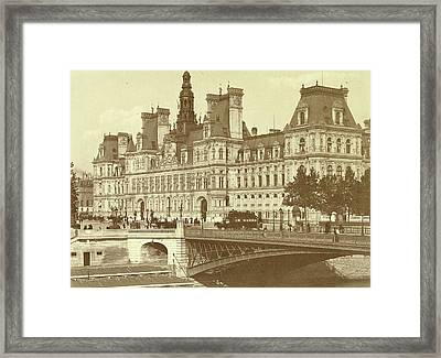 City Hall In Paris, France, Anonymous Framed Print