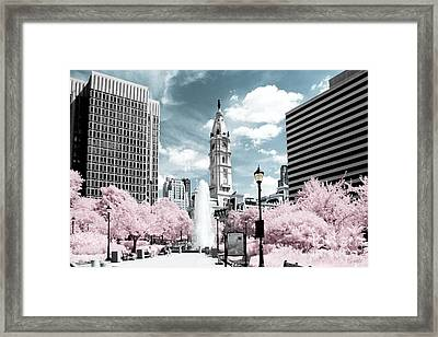 City Hall In Spring Framed Print
