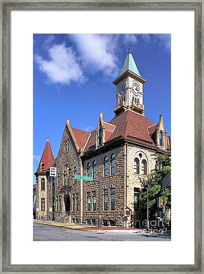 City Hall - Johnstown Pa Framed Print
