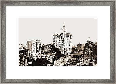 City Hall Park, N Framed Print