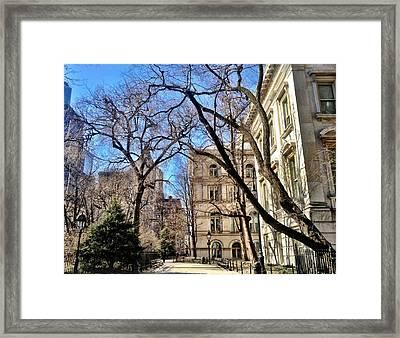 City Hall Park Ny Framed Print