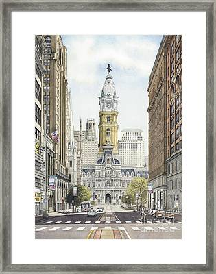 City Hall Philadelphia Framed Print by Keith Mountford