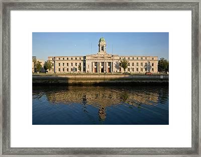 City Hall, River Lee, Cork City, Ireland Framed Print