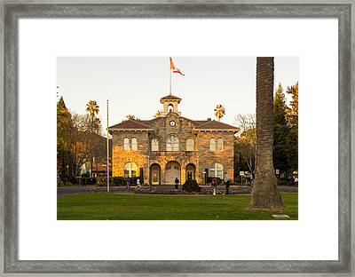 City Hall Sonoma Framed Print by Rima Biswas