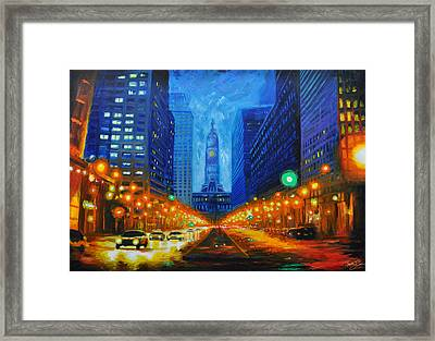 City Hall Framed Print by Timothy Caison