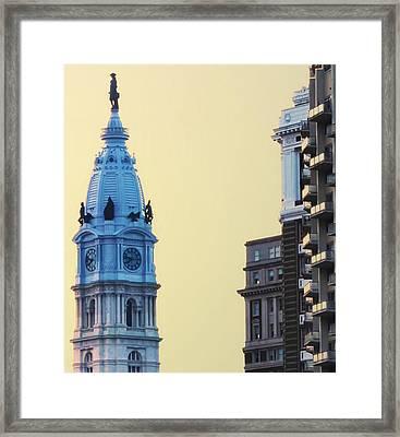 City Hall Tower Framed Print