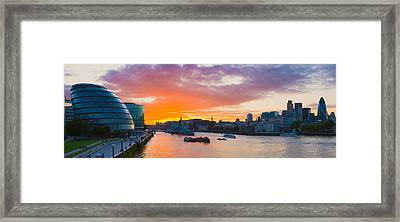 City Hall With Office Buildings Framed Print