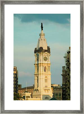 City Hall With Statue Of William Penn Framed Print