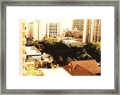 City In Hawii Framed Print by Joan Shortridge