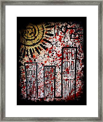 Chemical Reign Framed Print by Josh Brown